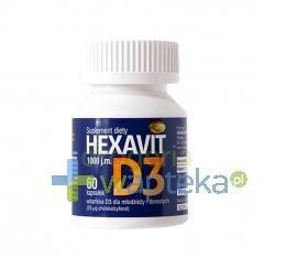 Hexavit D3 1000jm. 60 kapsułek