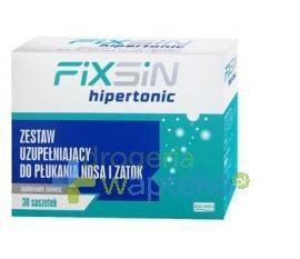 FIXSIN HIPERTONIC zestaw uzupełniający do płukania nosa i zatok 30 saszetek