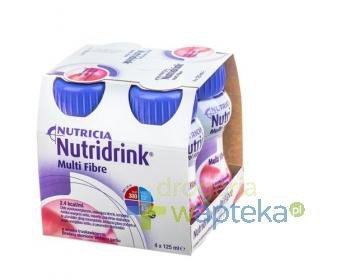 Nutridrink Multi Fibre smak truskawkowy 4 x 125ml