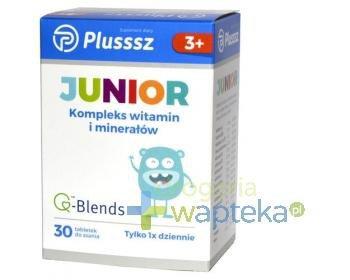 Plusssz Junior witaminy i minerały tabletki do ssania 30 szt.