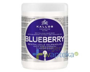 KALLOS KJMN Maska do włosów Blueberry z ekstraktem z jagód i olejem avokado 1000ml  whited-out