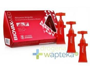 Biovax Med ampułki aktywne kuracja przeciw wypadaniu włosów 10x 6,5 ml   whited-out