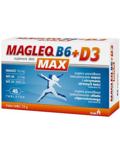 Magleq B6 Max + D3 45 tabletek