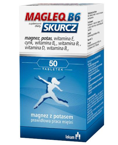 Magleq B6 skurcz 50 tabletek