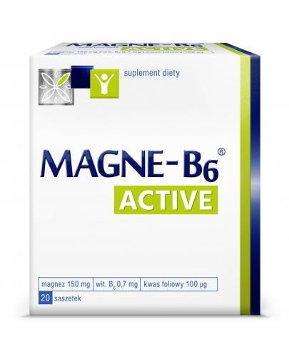 Magne-B6 Active suplement diety magnez 20 saszetek