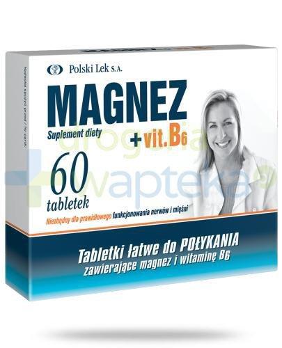 Magnez + Vitamina B6 60 tabletek Polski Lek
