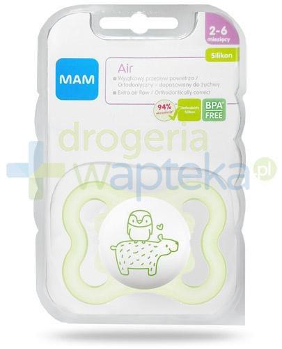 MAM Air smoczek silikonowy 2-6m+ ortodontyczny 1 sztuka [27524]