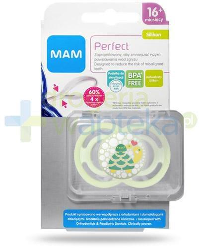 MAM Perfect smoczek silikonowy 16m+ 1 sztuka [27580]