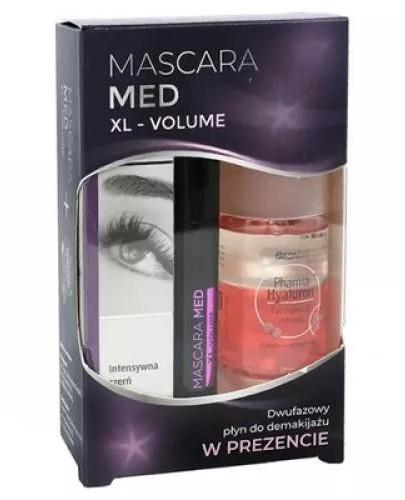 Mascara Med XL-Volume tusz do rzęs 6 ml + Pharma Hyaluron dwufazowy płyn do demakijaż...