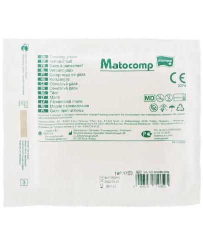 Matocomp gaza opatrunkowa jałowa 17-nitkowa 1m2 1 sztuka