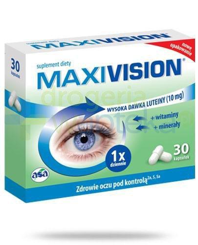 Maxivision luteina 10mg i witaminy 30 kapsułek  whited-out
