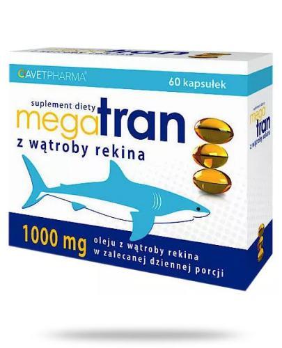 Mega Tran z wątroby rekina 60 kapsułek