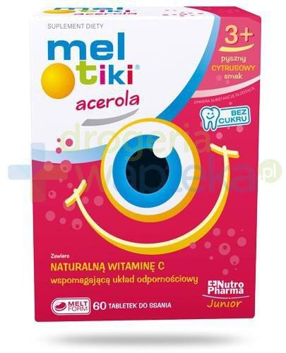 Meltiki Acerola naturalna witamina C smak cytrusowy 60 tabletek