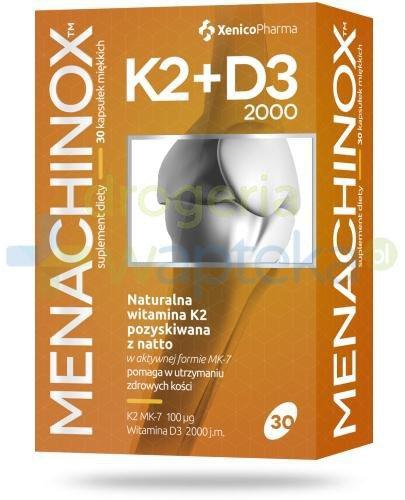 Menachinox K2 + D3 2000 witamina K2 30 kapsułek Xenico