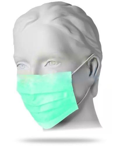 Mercator Medical maska chirurgiczna antybakteryjna z włókniny z gumkami dwuwarstwowa 10 ...