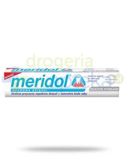 Meridol Ochrona dziąseł Delikatne wybielanie pasta do zębów 75 ml  whited-out