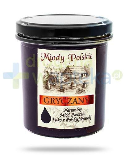 Miody Polskie miód naturalny gryczany 400 g