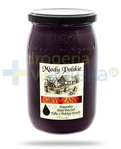Miody Polskie miód naturalny gryczany 950 g