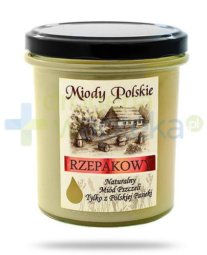 Miody Polskie miód naturalny rzepakowy 400 g