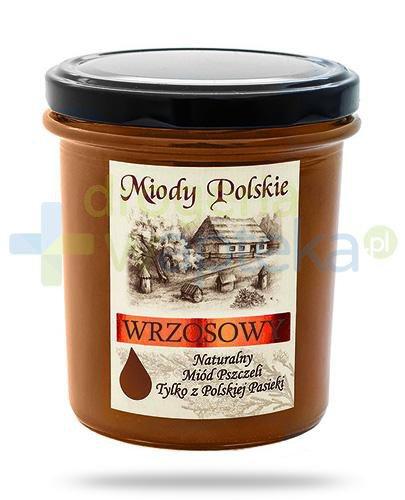 Miody Polskie miód naturalny wrzosowy 400 g  whited-out