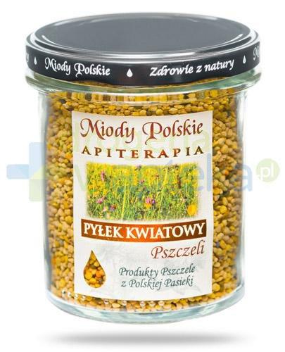 Miody Polskie naturalny pyłek kwiatowy pszczeli 200 g