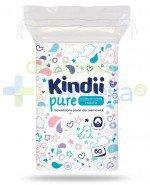 Kindii Pure miękkie bawełniane płatki dla niemowląt 60 sztuk [Baby Sensitive, Cleanic Kindii]