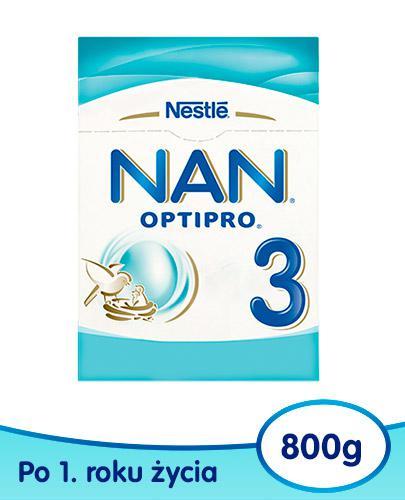 Mleko Nestlé NAN OPTIPRO 3 Mleko modyfikowane w proszku dla dzieci po 1 roku 800 g