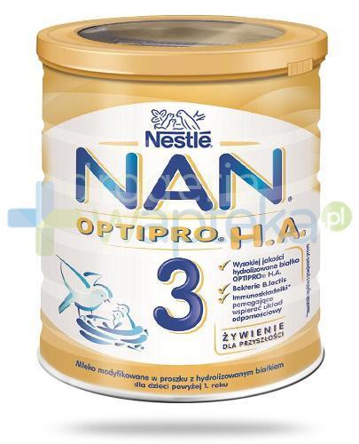 Mleko Nestlé NAN OPTIPRO H.A. 3 Mleko modyfikowane w proszku dla dzieci powyżej 1 rok...