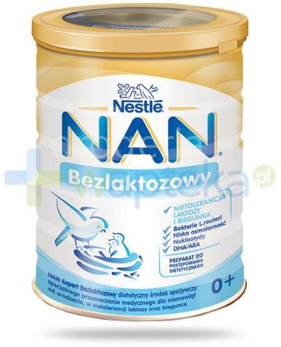 Mleko Nestlé NAN EXPERT Bezlaktozowy dla niemowląt przy nietolerancji laktozy oraz biegu...