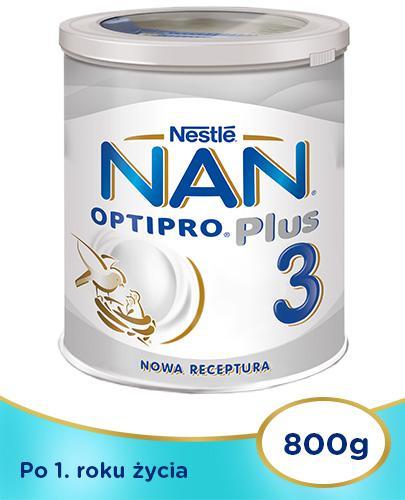Mleko Nestlé NAN OPTIPRO Plus 3 Mleko modyfikowane w proszku dla dzieci po 1 roku 4x 800 ...