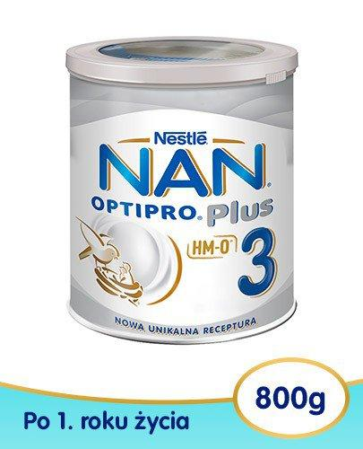 Mleko Nestlé NAN OPTIPRO Plus 3 Mleko modyfikowane w proszku dla dzieci po 1 roku 6x 800 ...