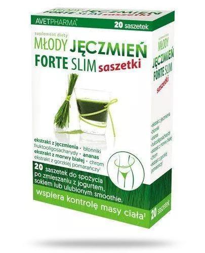 Młody Jęczmień Forte Slim 20 saszetek