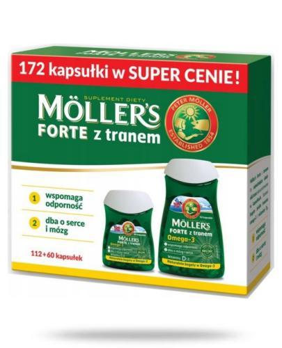 Mollers Forte z tranem Omega-3 112 kapsułek + Mollers Forte z tranem Omega-3 60 kapsułek...  whited-out