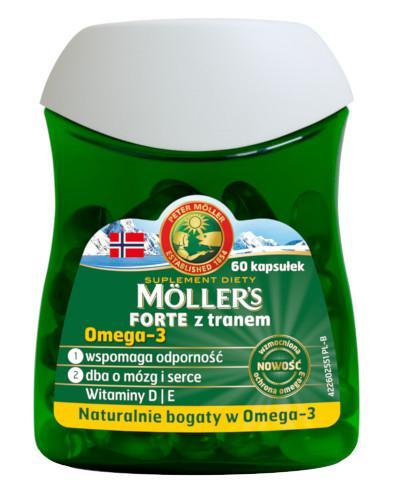 Mollers Forte z tranem Omega-3 60 kapsułek