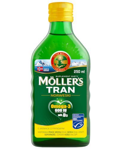 Mollers Tran Norweski Omega-3 600 smak cytrynowy 250 ml