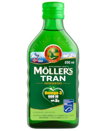 Mollers Tran Norweski Omega-3 600 smak jabłkowy 250 ml