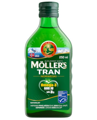 Mollers Tran Norweski Omega-3 600 smak naturalny 250 ml
