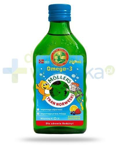 Mollers Tran Norweski Omega-3 smak owocowy 250 ml