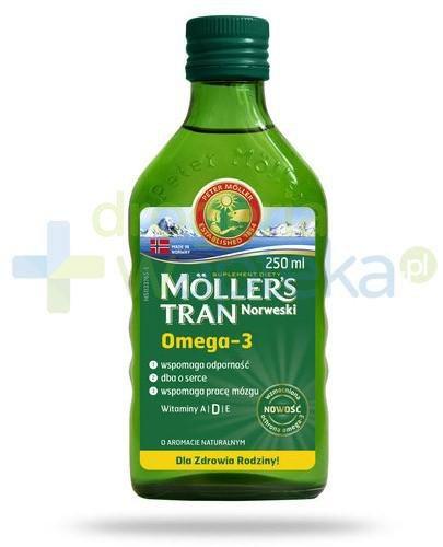 Mollers Tran Norweski Omega-3 smak naturalny 250 ml