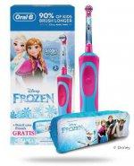 Oral-B Stages Kids Frozen szczoteczka elektryczna dla dzieci 3+ 1 sztuka + piórnik [ZESTAW] + 2 końcówki [GRATIS]
