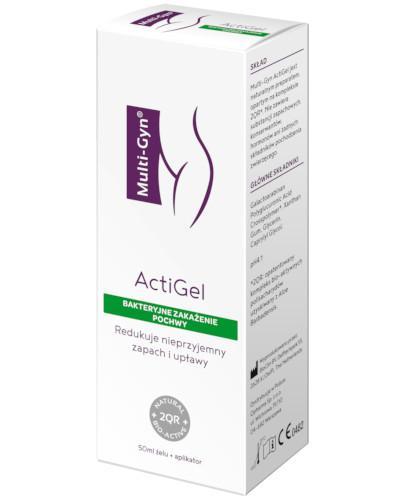 Multi-Gyn ActiGel zapobiega i łagodzi dolegliwości pochwowe 50 ml