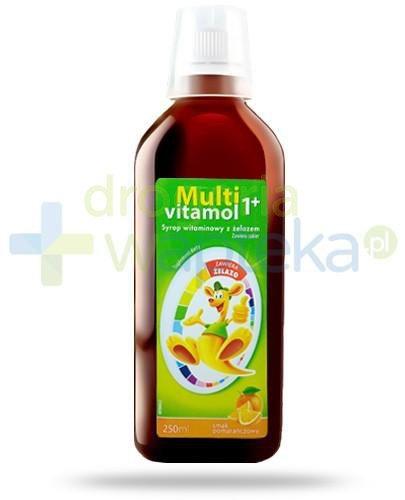 Multivitamol syrop witaminowy z żelazem o smaku pomarańczowym dla dzieci 250 ml