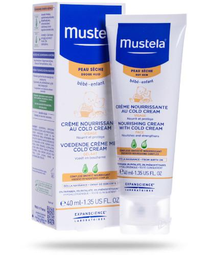 Mustela Bebe krem odżywczy z Cold Cream do twarzy 40 ml