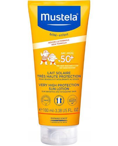 Mustela SPF 50+ mleczko przeciwsłoneczne do twarzy 100 ml