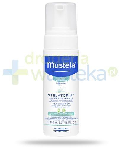 Mustela Stelatopia szampon w piance do skóry skłonnej do atopii od dnia narodzin 150 ml