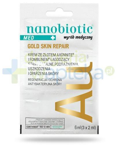 Nanobiotic Med+ Gold Skin Repair krem na uszkodzenia i oparzenia skóry 3x 2 ml
