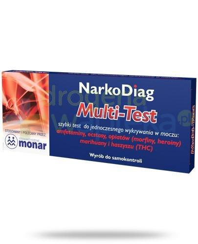 NarkoDiag Multi-Test test panelowy do wykrywania narkotyków 1 sztuka