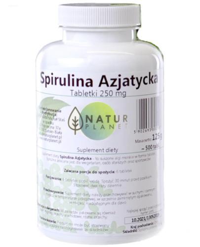 Natur Planet Spirulina Azjatycka 500 tabletek
