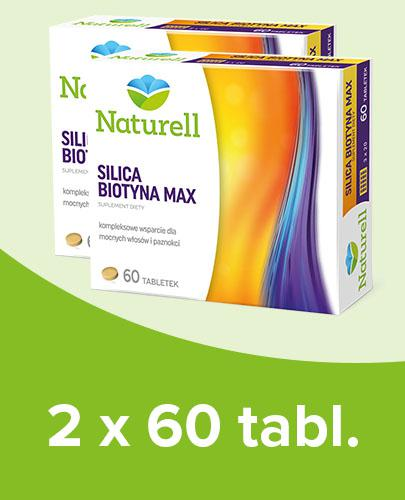 Naturell Silica Biotyna Max 2x 60 tabletek [DWUPAK]  whited-out