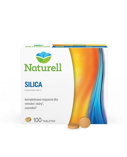 Naturell Silica zdrowa skóra, mocne włosy i paznokcie 100 tabletek